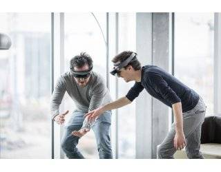 Zühlke employees working with HoloLens at Swiss office